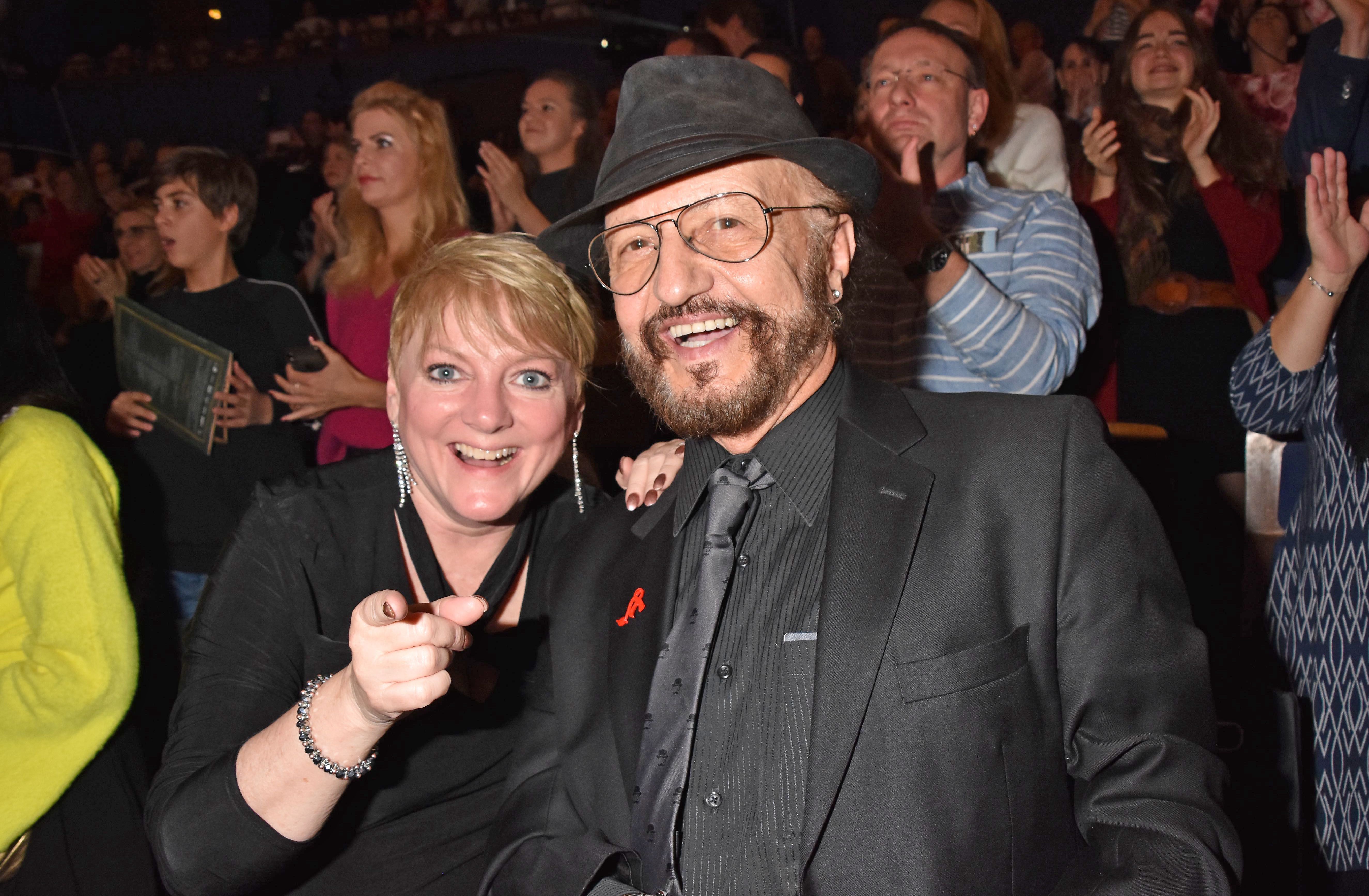 """Alison Arngrim and Robert Paul Schoonover at the Young Show """"Im Labyrinth der Buecher"""" on November 17, 2019, in Berlin, Germany 