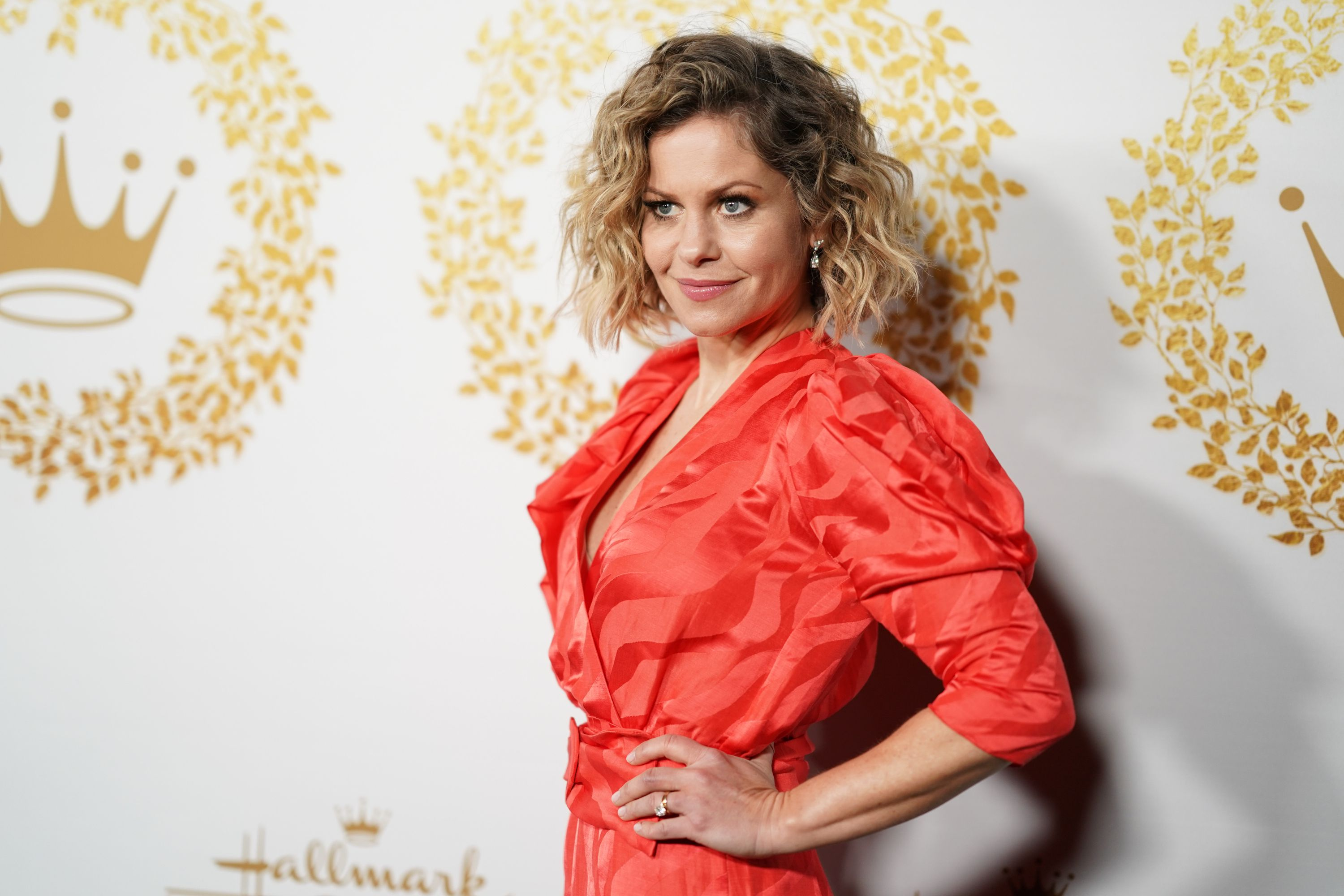 Candace Cameron Bure at the Hallmark Channel and Hallmark Movies and Mysteries 2019 Winter TCA Tour at Tournament House on February 09, 2019 | Photo: Getty Images