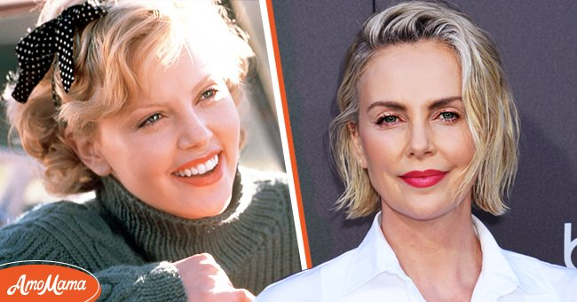 A collage of images of a young Charlize Theron and a recent one | Photo: Getty Images