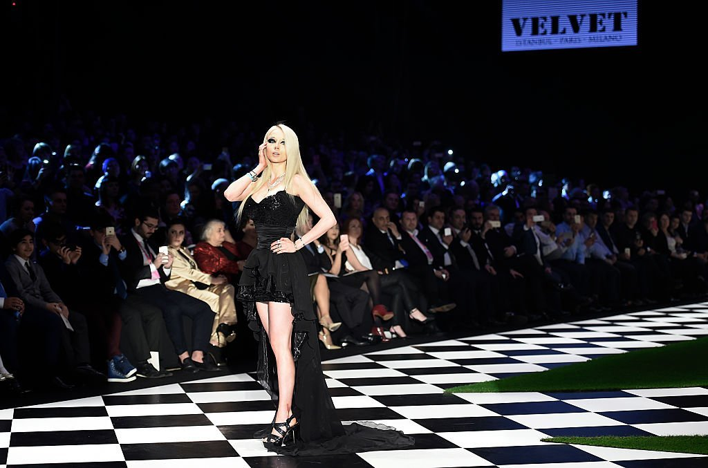 Valeria Lukyanova at the Dosso Dossi fashion show. | Source: Getty Images