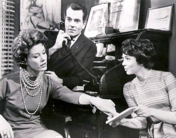 """Ann Flood, Robert Mandan and Sarah Hardy in """"From these Roots"""" in 1961. 