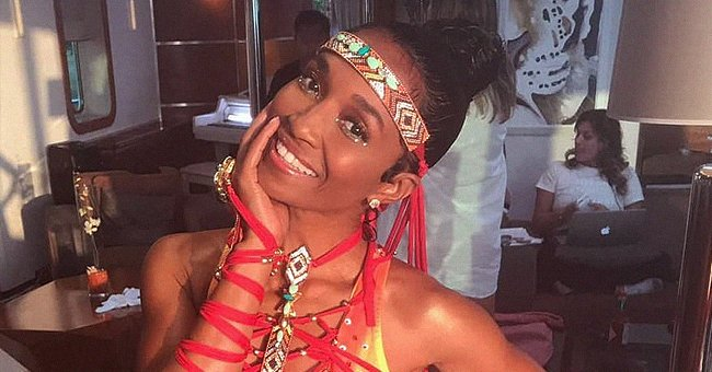 Check Out TLC's Chilli as She Defies Age Flaunting Figure in a Fiery Swimsuit with Red Strings