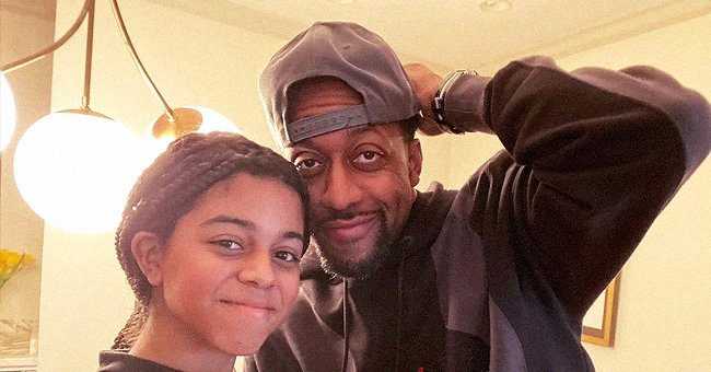 Jaleel White and His Look-Alike Daughter Enjoy Picnic in a Park on Valentine's Day