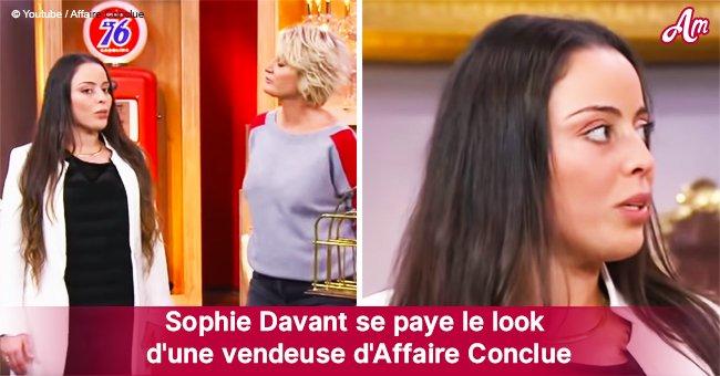 Sophie Davant se moque ouvertement du look d'une vendeuse sur Affaire Conclue