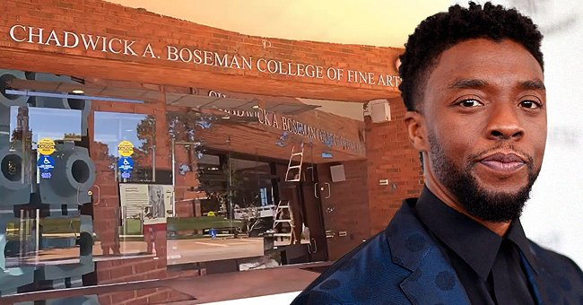 Howard University's College of Fine Arts named after actor Chadwick Boseman | Photo: Instagram.com/howard1867 + Kevin Mazur/Getty Images