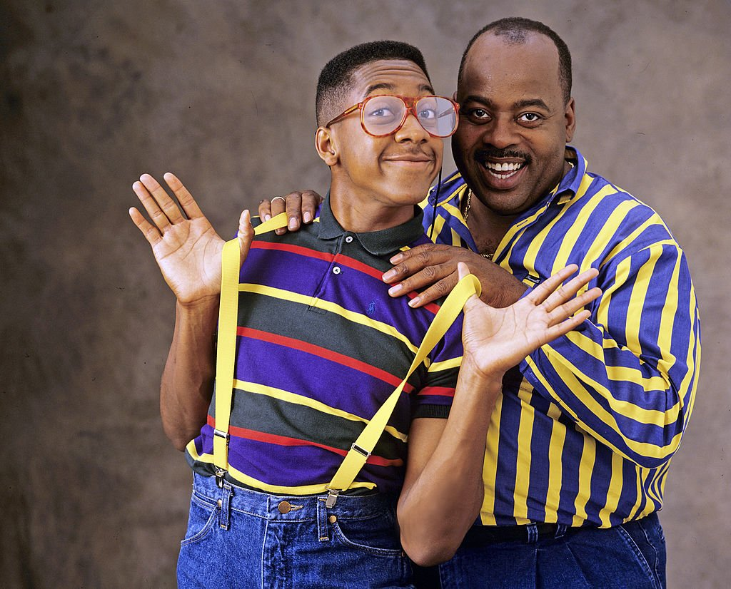 "Jaleel White (Urkel) and Reginald VelJohnson (Carl) of ""Family Matters"" 