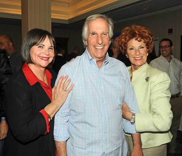 "Marion Ross, Henry Winkler and Cindy Williams from ""Happy Days"" at Sheraton Parsippany Hotel on October 24, 2014 