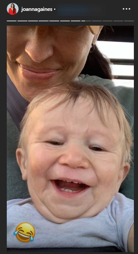 Crew Gaines with an 'Old' man FaceApp filter   Photo: Instagram Story/Joanna Gaines