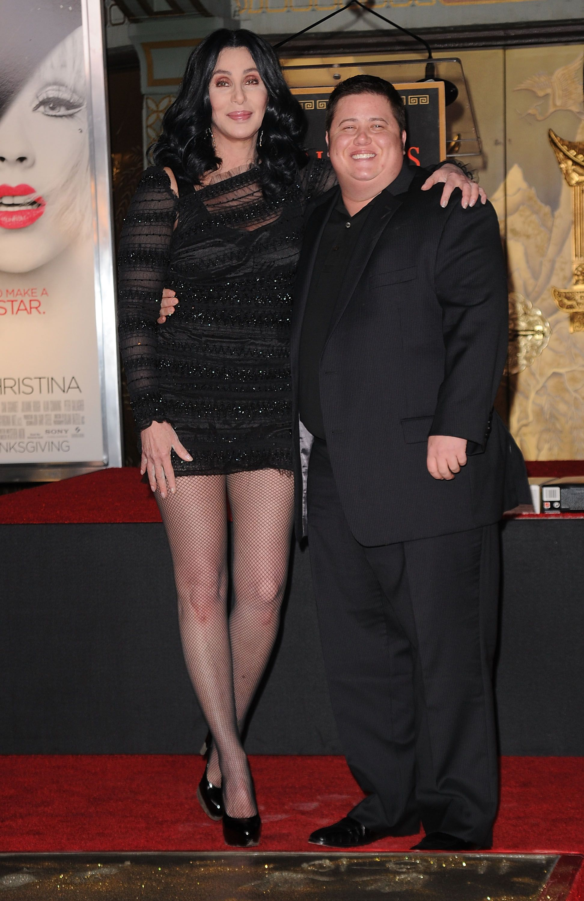 Cher and Chaz Bono at Grauman's Chinese Theatre in 2010 in Hollywood, California | Source: Getty Images