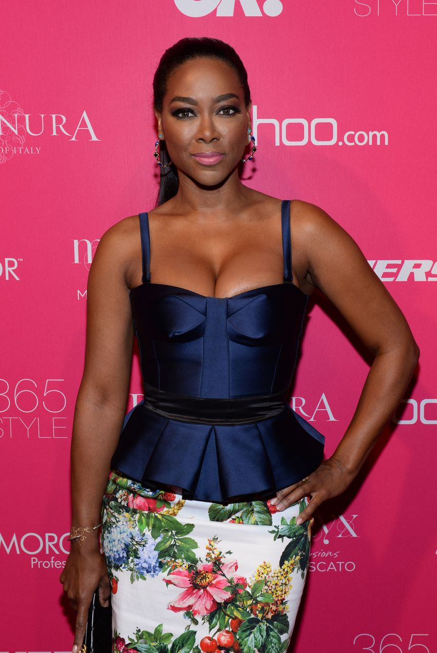 Kenya Moore during the OK! Fashion Week Event 2014 on September 10, 2014 in New York City.   Source: Getty Images