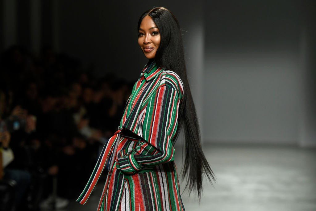 Naomi Campbell walks the runway during the Kenneth Ize show as part of Paris Fashion Week Womenswear Fall/Winter 2020/2021 on February 24, 2020 in Paris, France | Photo: Getty Images