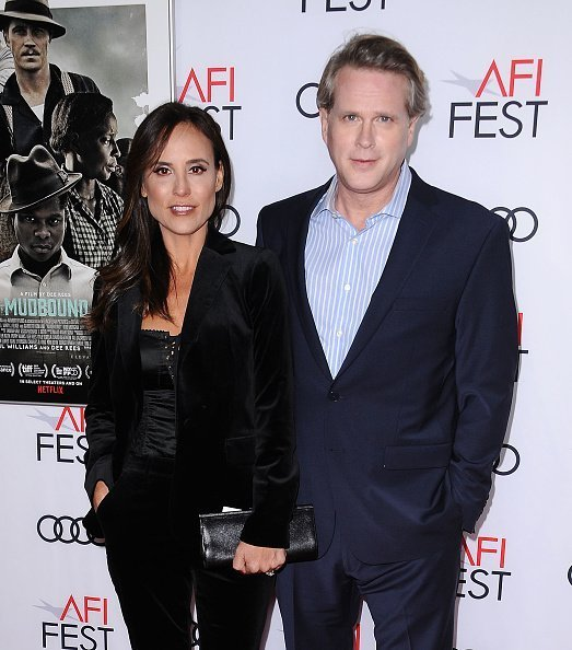 "Actor Cary Elwes and wife Lisa Marie Kubikoff attend the 2017 AFI Fest opening night gala screening of ""Mudbound"" at TCL Chinese Theatre on November 9, 2017 in Hollywood, California 