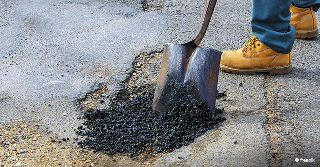 Video of 12-Year-Old Michigan Boy Fixing Potholes by Himself in His Neighborhood Goes Viral