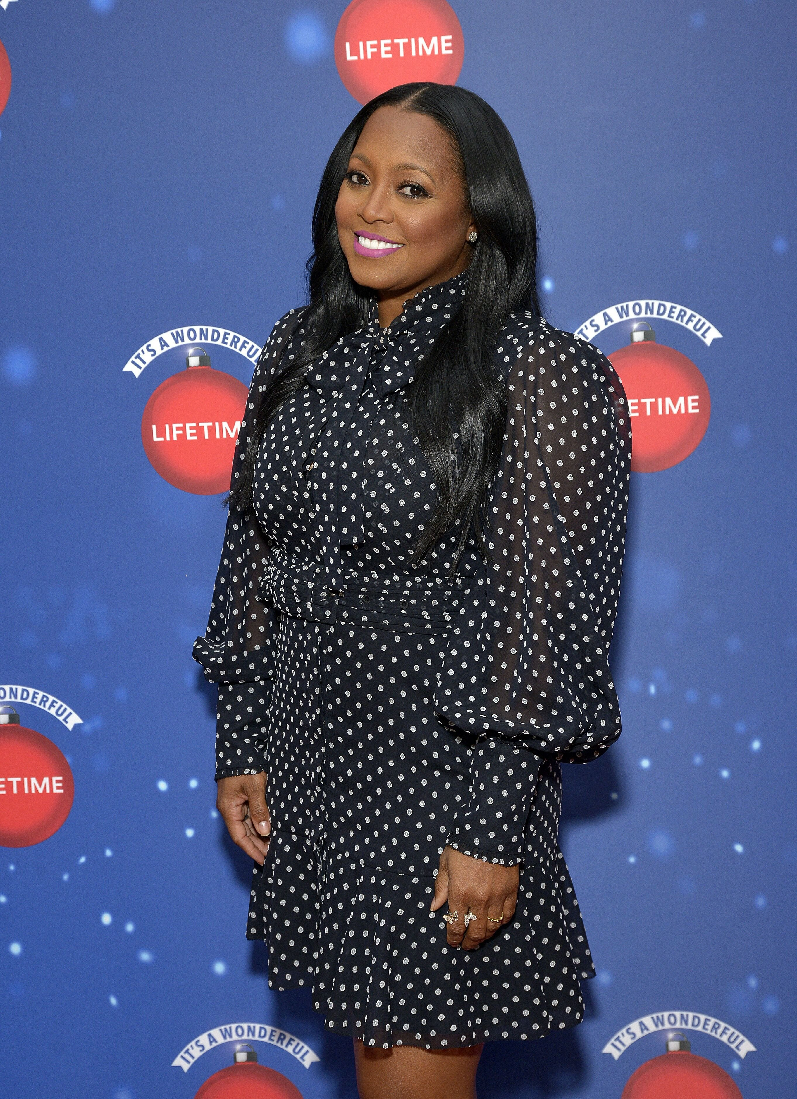 Keshia Knight Pulliam gracing a Christmas event for Lifetime Network. | Photo: Getty Images