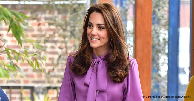 Kate Middleton Turns Heads in $1,300 Pussy Bow Blouse While Playing with Adorable Baby Twins