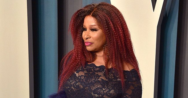 Chaka Khan Put Her Curves on Display in Black Lace Dress at the Vanity Fair Oscars Party