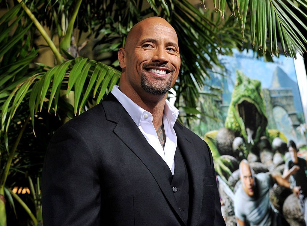 "Actor Dwayne Johnson arrives at the premiere of Warner Bros. Pictures' ""Journey 2: The Mysterious Island"" at the Chinese Theater 