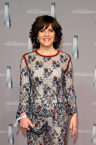 Birgit Schrowange, Deutscher Fernsehpreis 2017 | Quelle: Getty Images