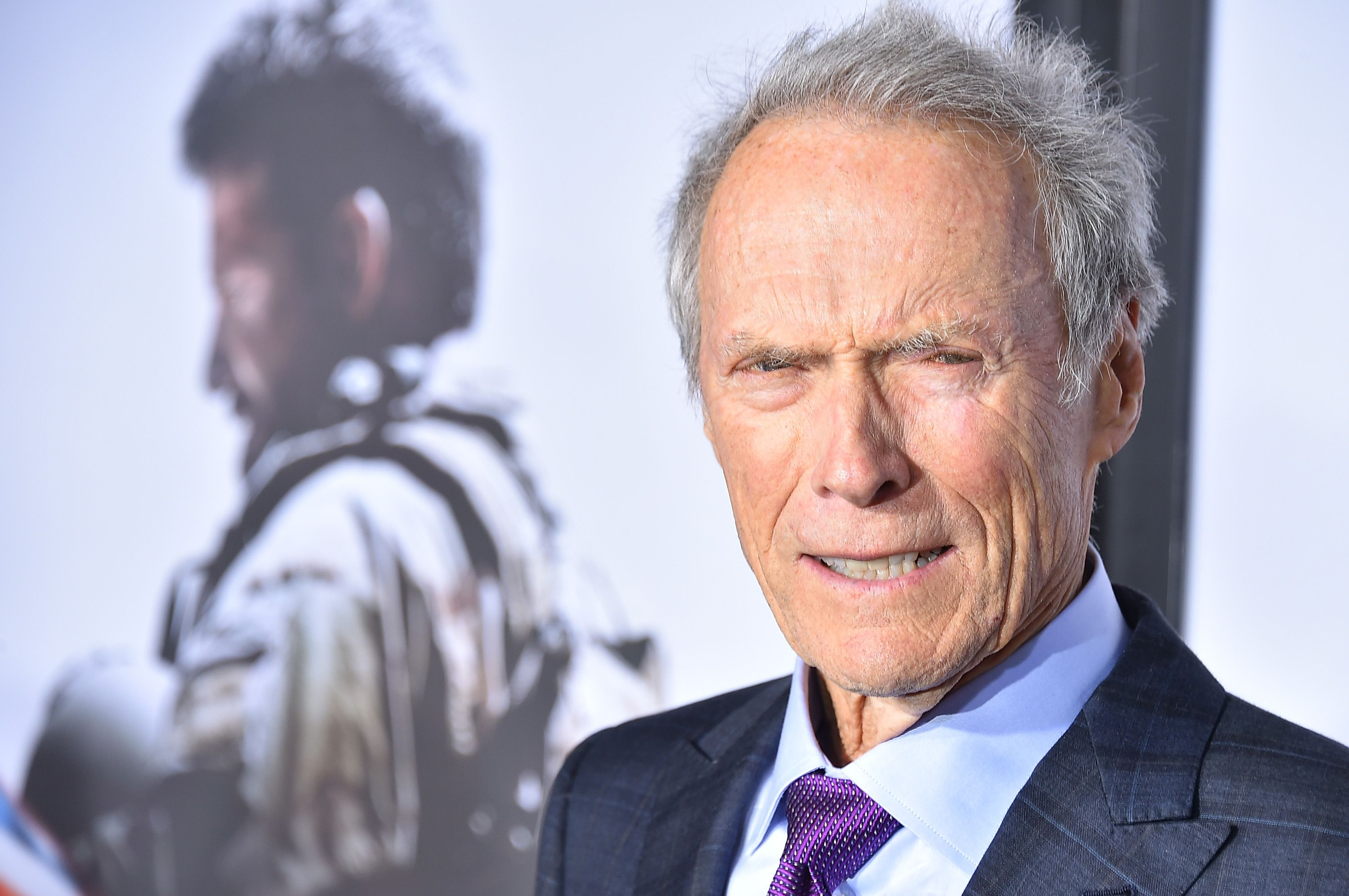 """Clint Eastwood arrives at the """"American Sniper"""" New York Premiere at Frederick P. Rose Hall, Jazz at Lincoln Center on December 15, 2014 in New York City 