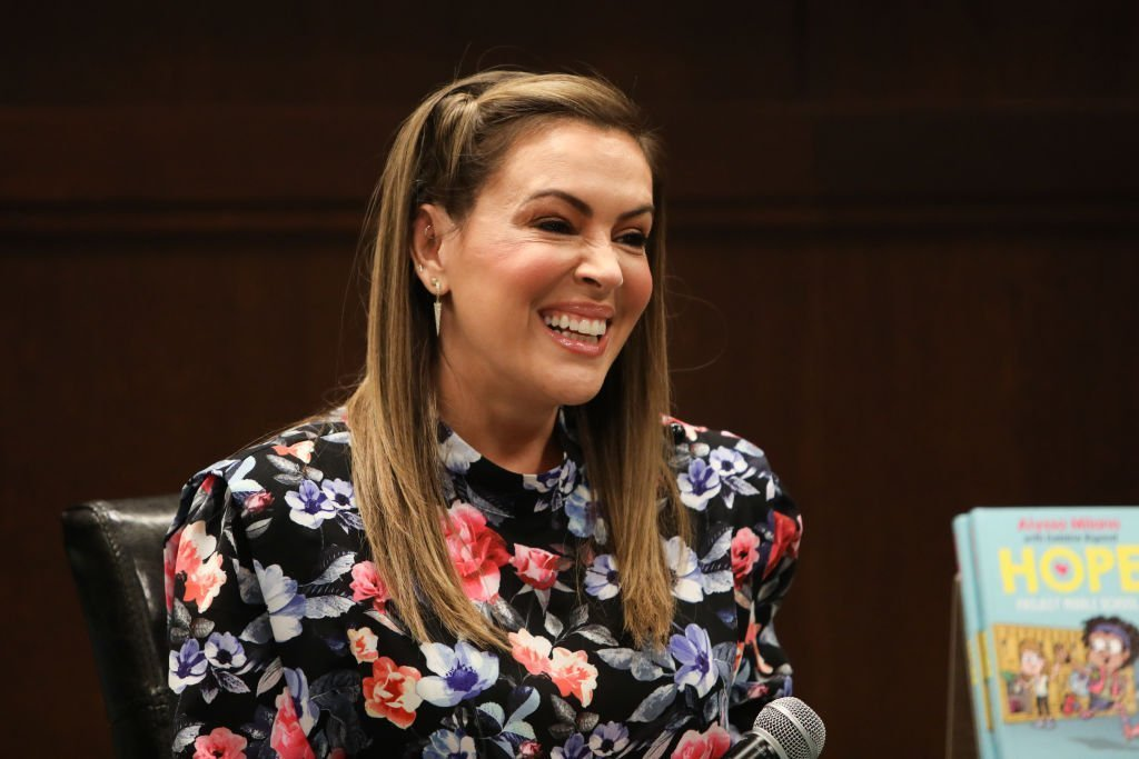 "Alyssa Milano celebrates the release of her new book ""Project Middle School"" at Barnes & Noble at The Grove on October 21, 2019 
