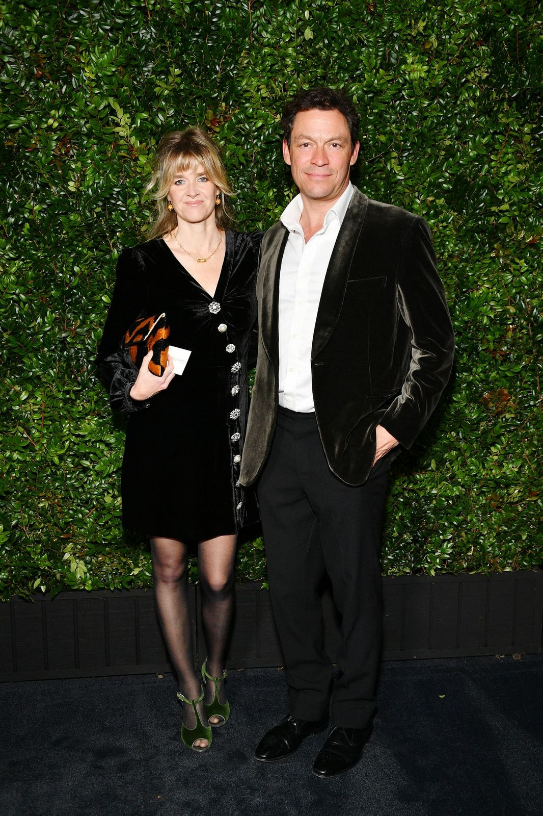 Catherine Fitzgerald and Dominic West at the Chanel And Charles Finch Pre-Oscar Awards Dinner on February 23, 2019, in Beverly Hills, California | Photo: Dia Dipasupil/WireImage/Getty Images