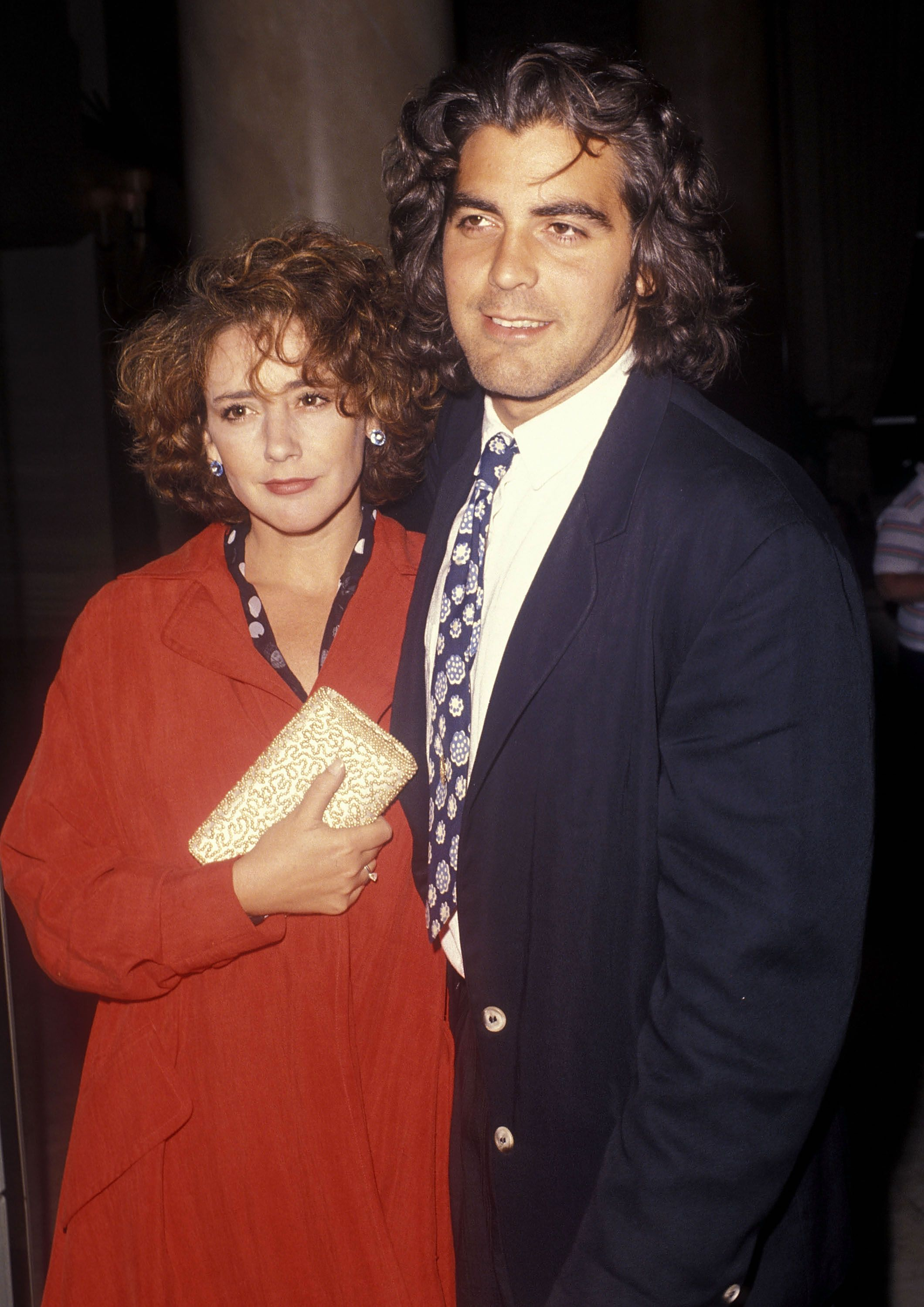 George Clooney and Talia Balsam at the ABC Television Affiliates Party in 1990 in Los Angeles, California | Source: Getty Images