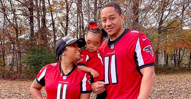 Toya Wright Shares Beautiful Family Photo with Fiancé Robert Rushing & Their Daughter Reign in Matching Atlanta Falcons Jerseys