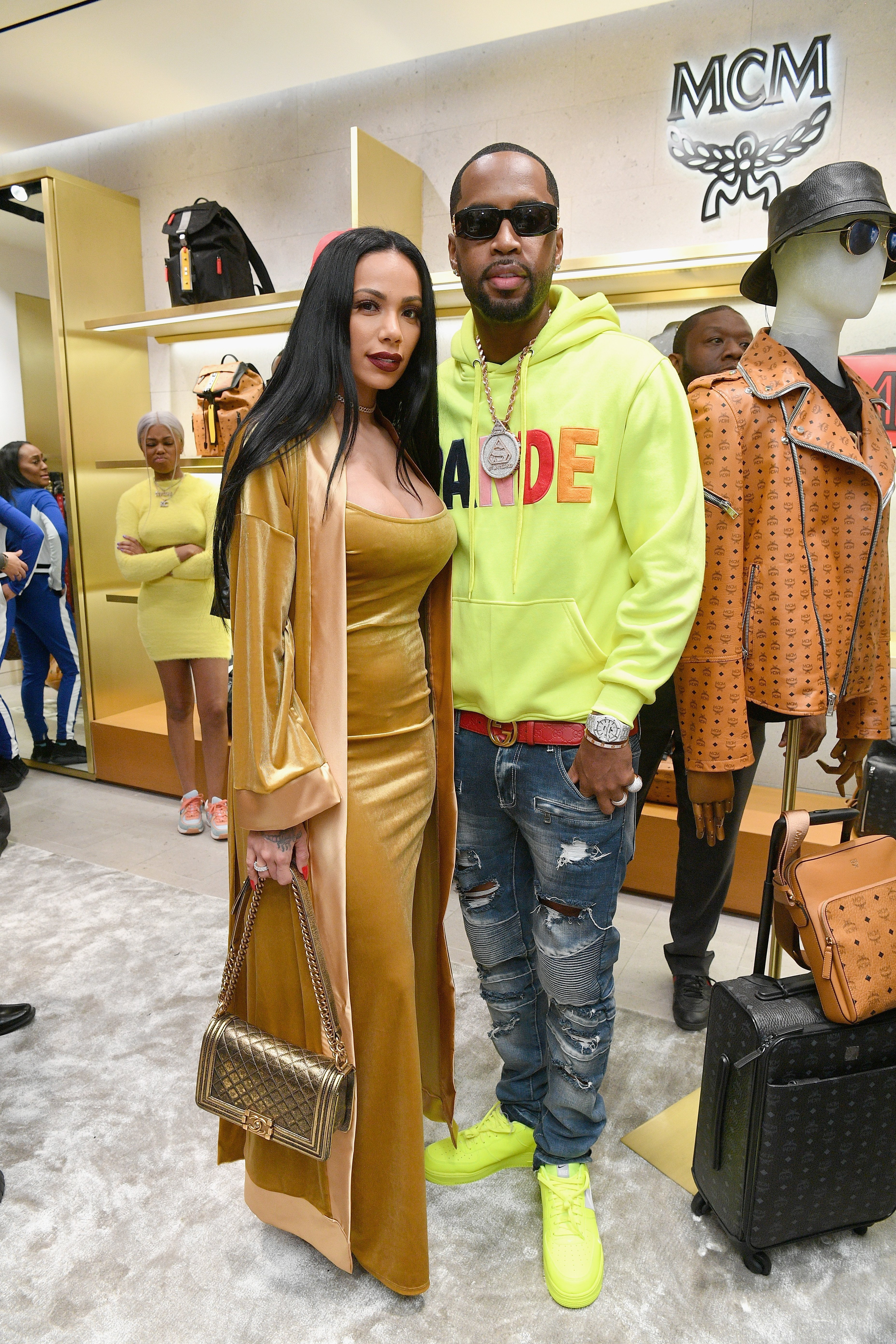 Newlyweds Erica Mena and Safaree Samuels at the MCM x Super Bowl LIII in February 2019 in Atlanta. | Photo: Getty Images