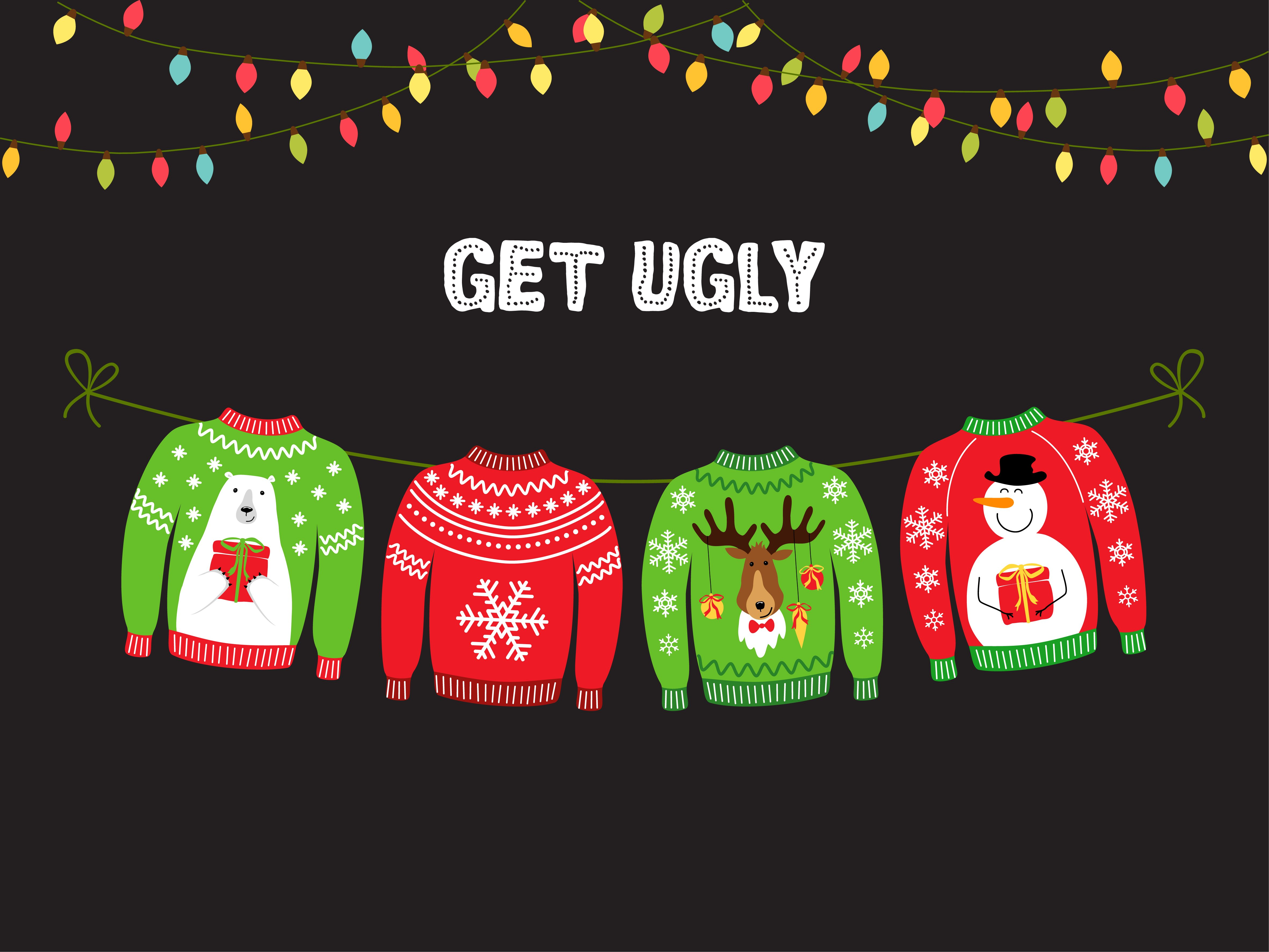 Christmas sprit means Ugly Christmas Sweaters for some celebs.   Photo: Shutterstock