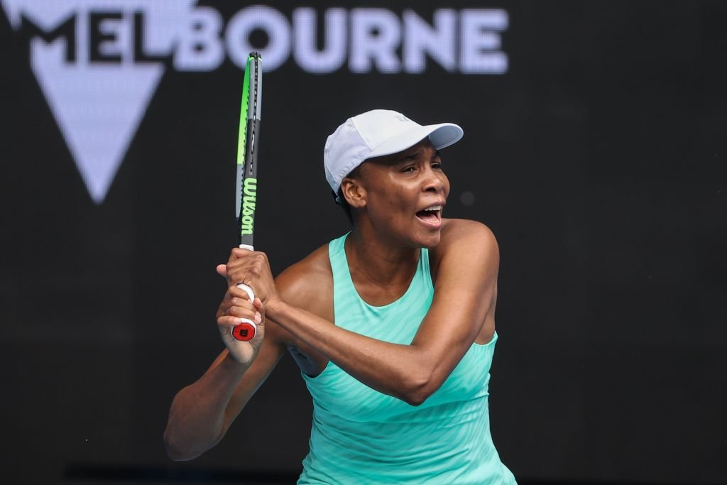 Venus Williams during a match at the Australian Open tennis tournament in Melbourne on February 8, 2021. | Source: Getty Images