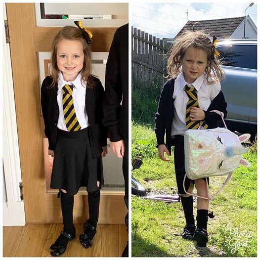 petite fille allant a l'école | source : Facebook