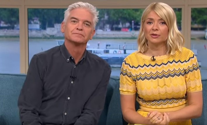 "Holly Willoughby and Phillip Schofield on an episode of ""This Morning.""