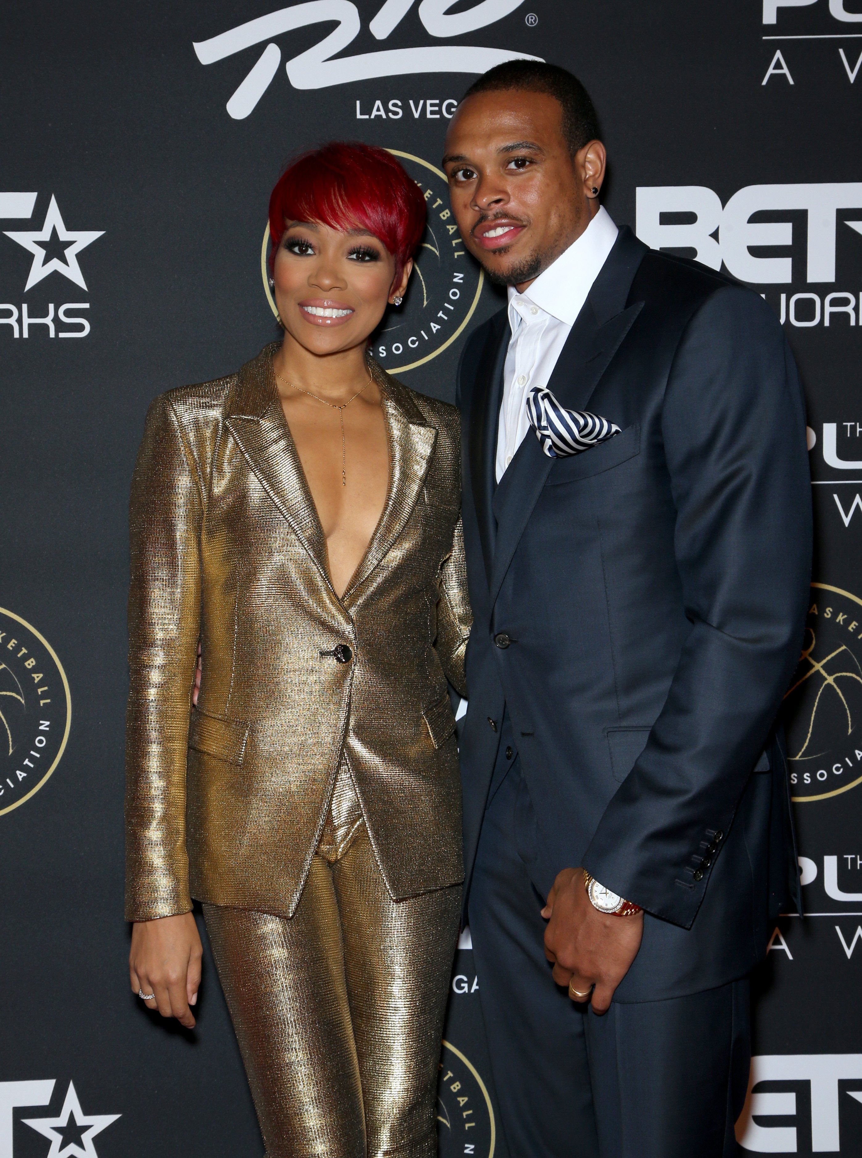 Monica and Shannon Brown at The Players' Awards in Las Vegas, Nevada on July 19, 2015 | Photo: Getty Images.