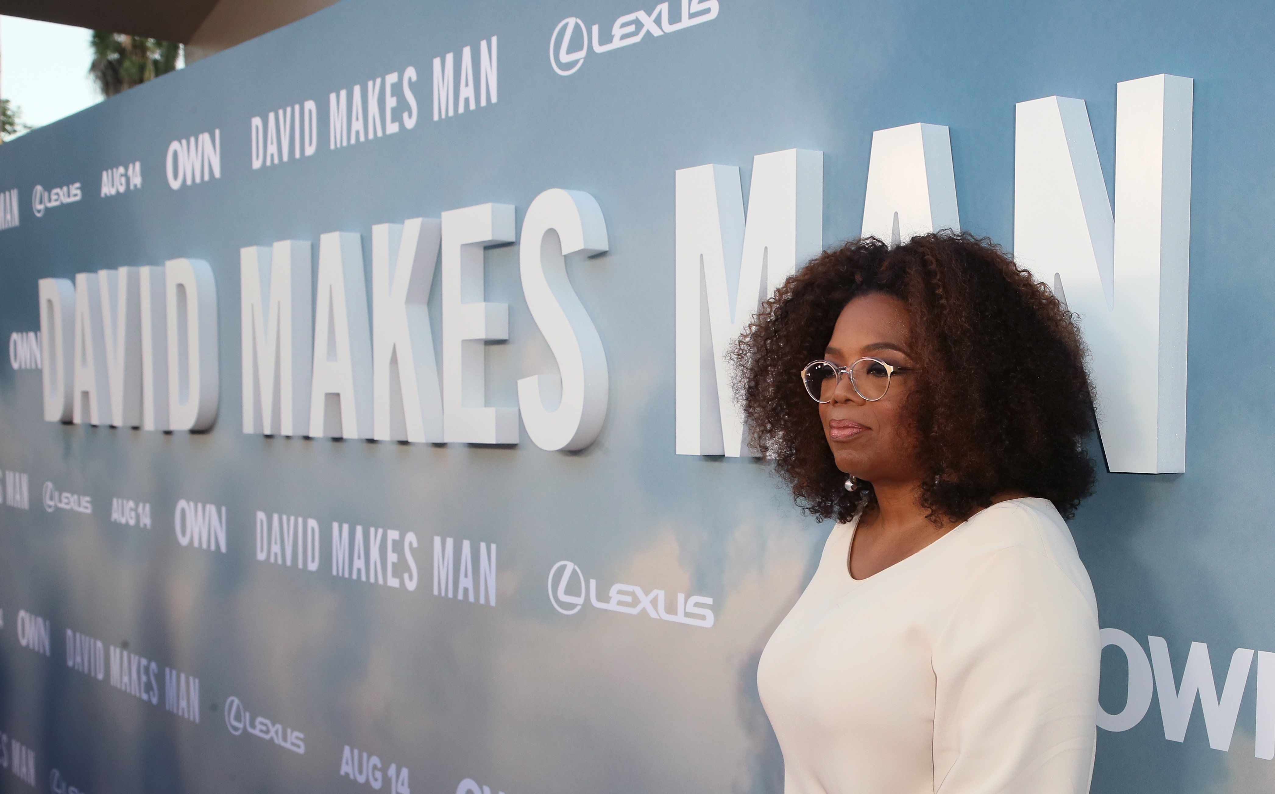 """Oprah Winfrey attends the premiere of OWN's """"David Makes Man"""" at NeueHouse Hollywood on August 06, 2019. 