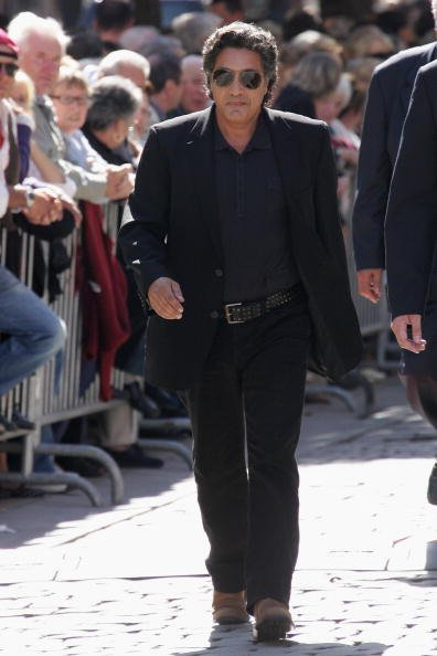 Singer Frederic Francois arrives at the Saint-Jean Cathedral of Lyon to attend the Jacques Martin funeral ceremony held on September 20, 2007 Lyon, FRANCE.
