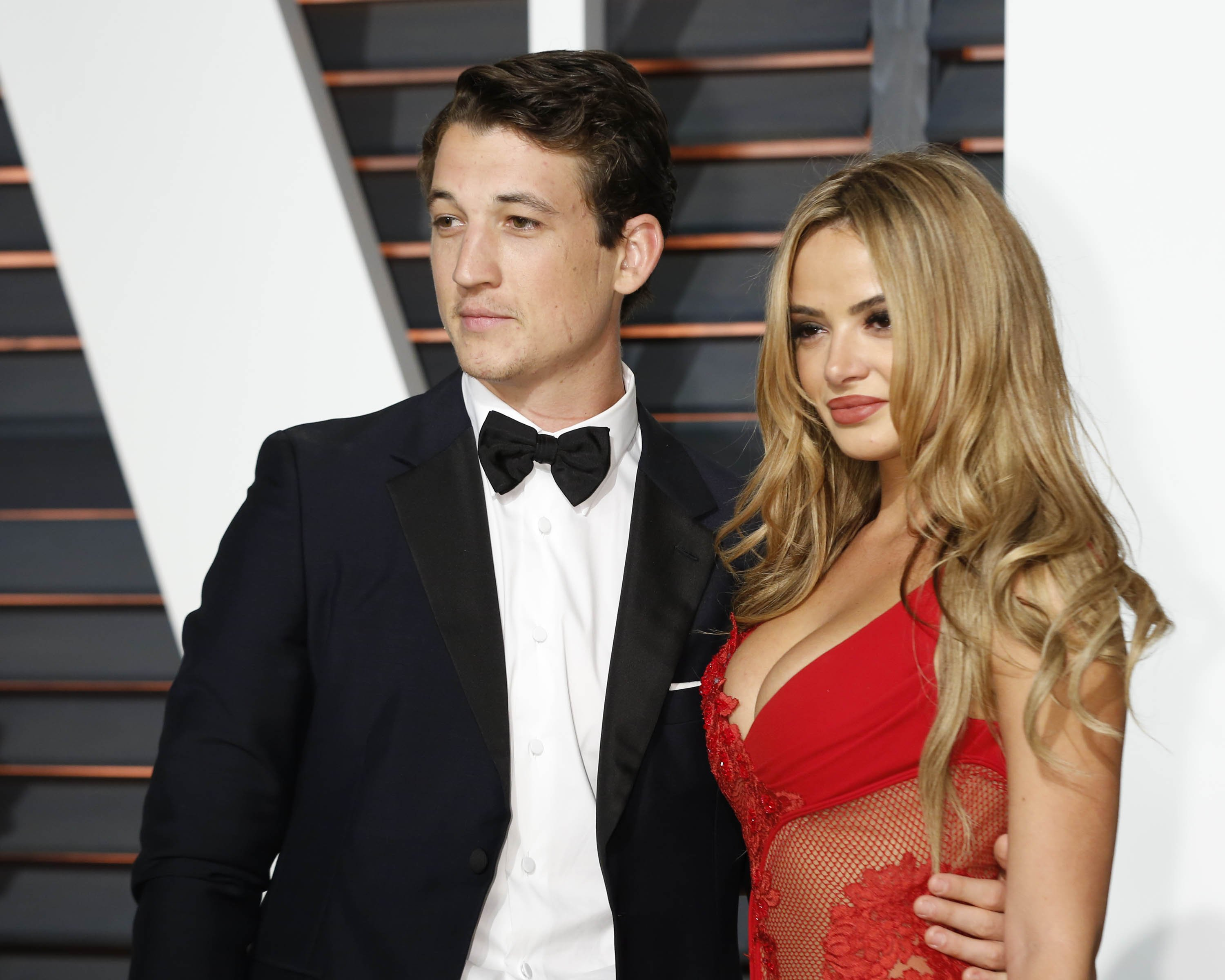 Miles Teller and Keleigh Sperry at the Vanity Fair Oscar Party 2015 at the Wallis Annenberg Center for the Performing Arts on February 22, 2015 in Beverly Hills, California | Photo: Shutterstock
