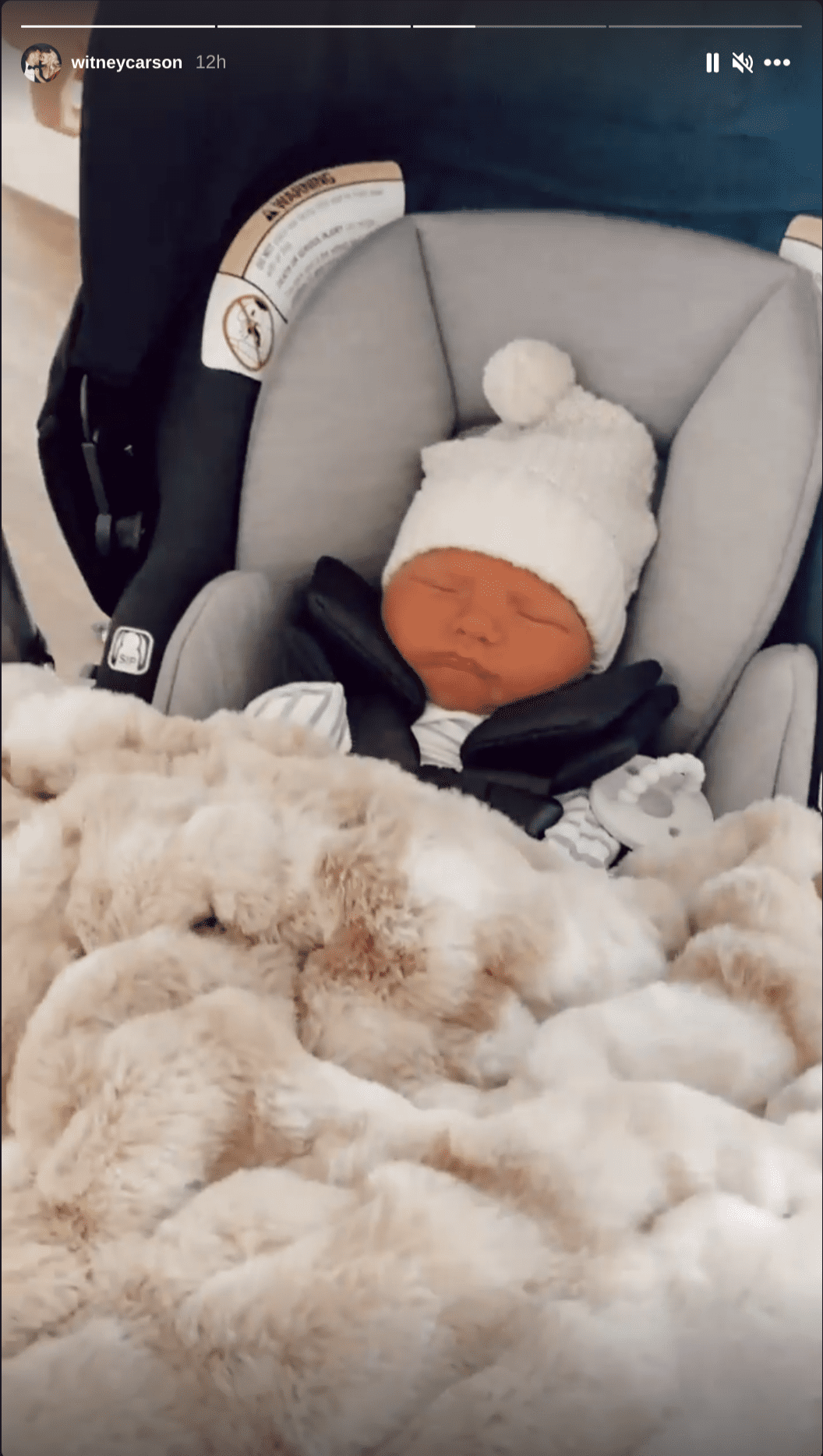 Witney Carson documents the first trip home with her son following his birth on January 3, 2020. | Source: Instagram/witneycarson.