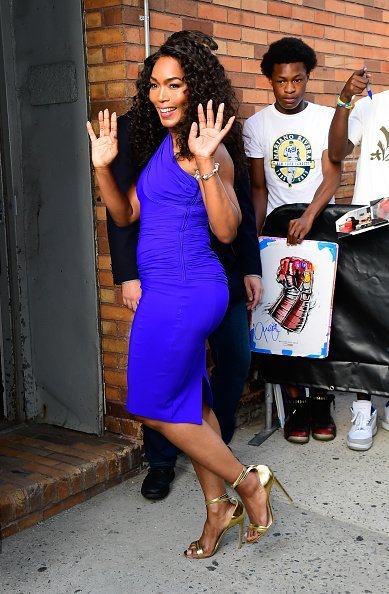 """Angela Bassett outside """"The Daily Show with Trevor Noah"""" on July 29, 2019 