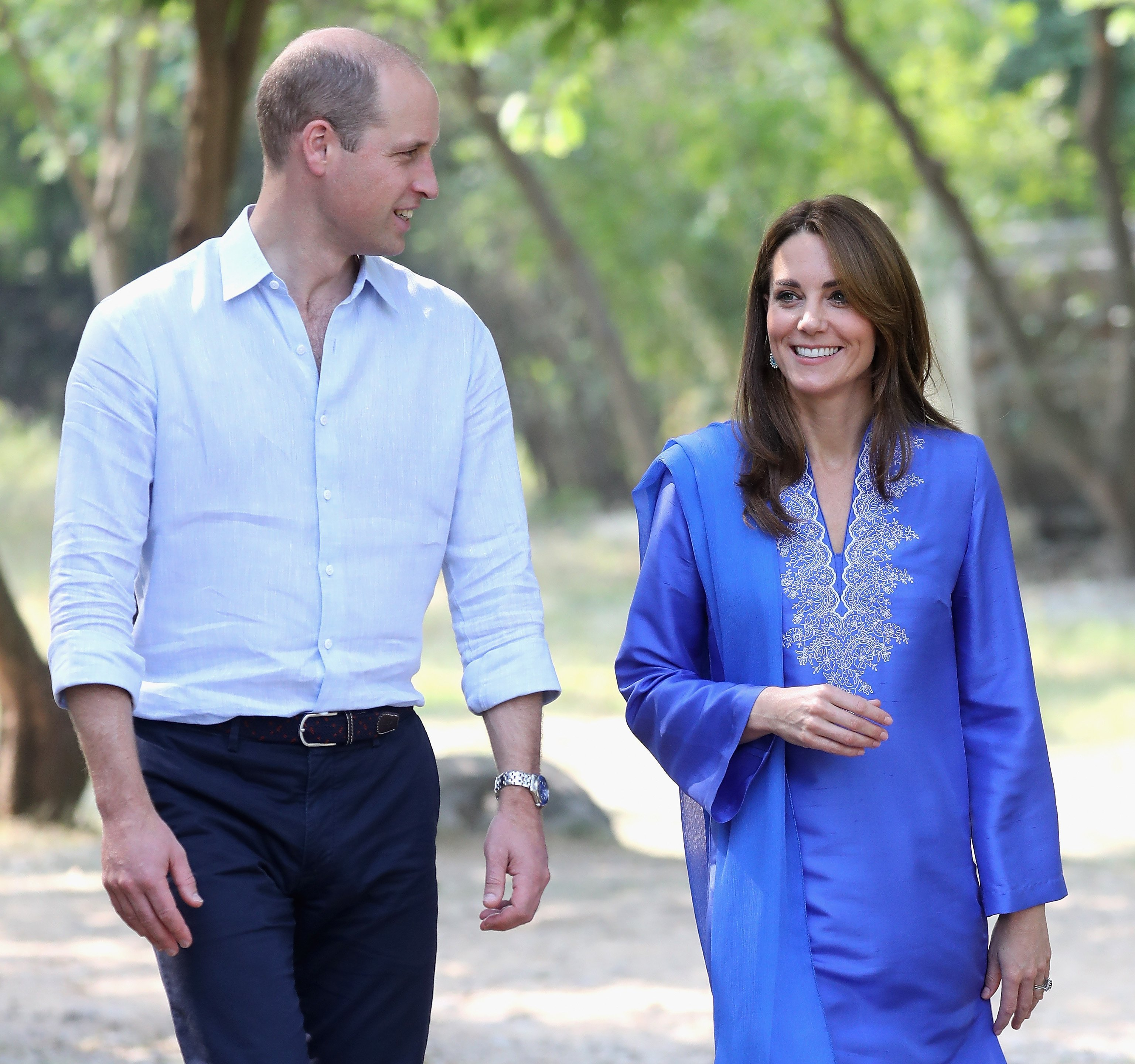Prince William and Catherine at the Margallah Hills National Park on October 15, 2019, in Islamabad, Pakistan. | Source: Getty Images