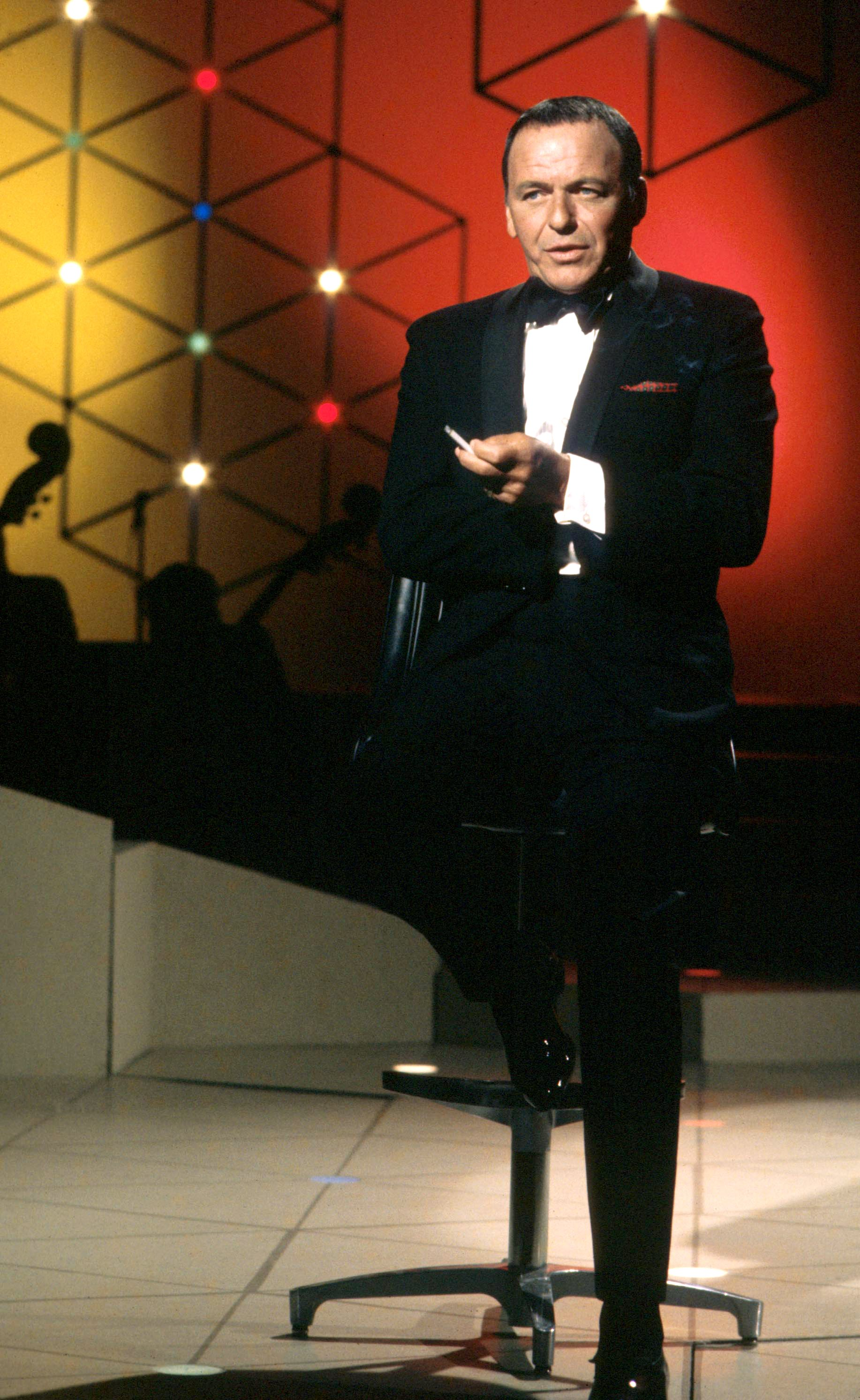 """Frank Sinatra pictured during a television special """"Francis Albert Sinatra Does His Thing,"""" 1968, Los Angeles, California. 