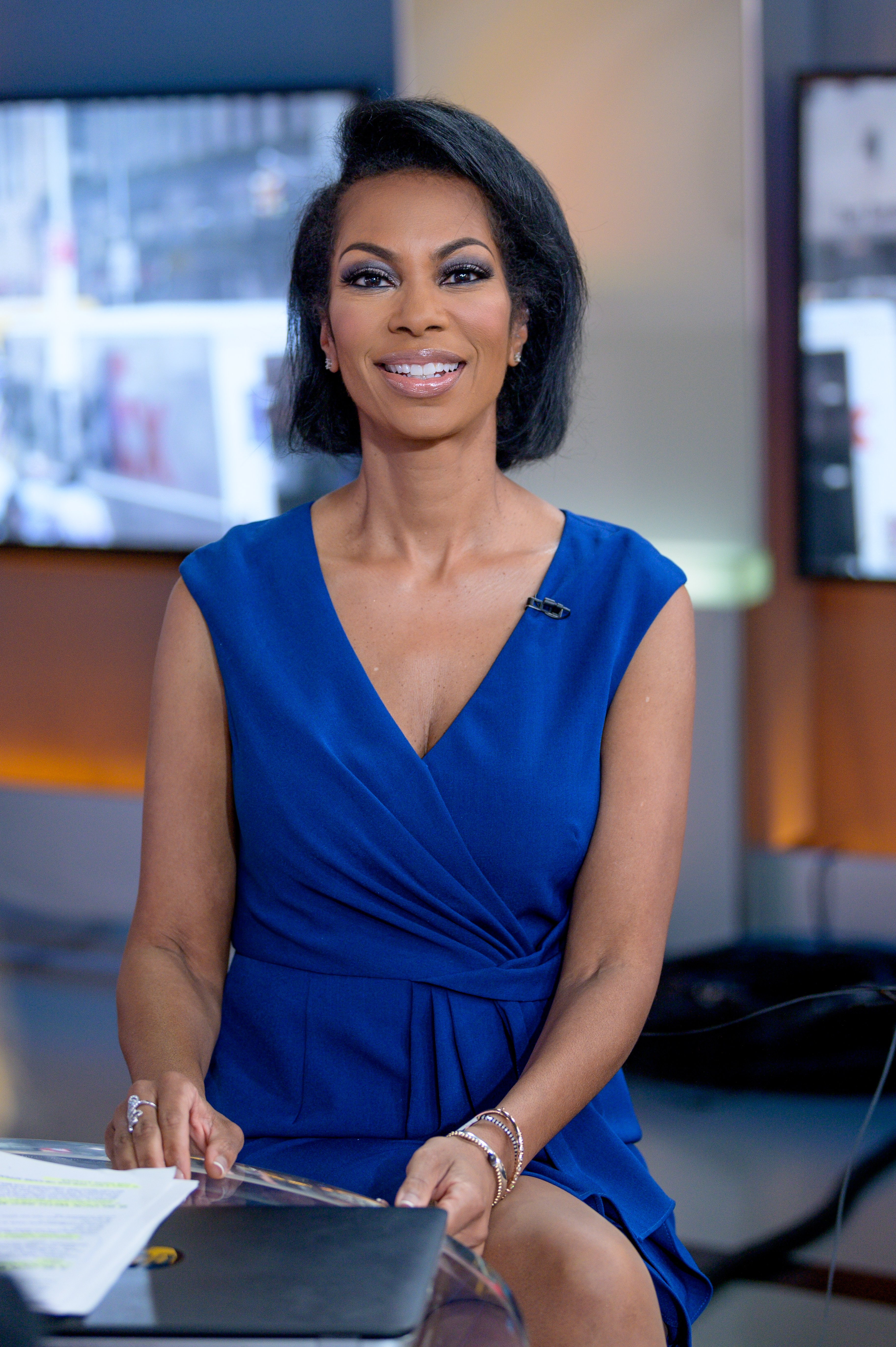 """Harris Faulkner visits """"Outnumbered Overtime"""" on September 18, 2019, in New York City. 