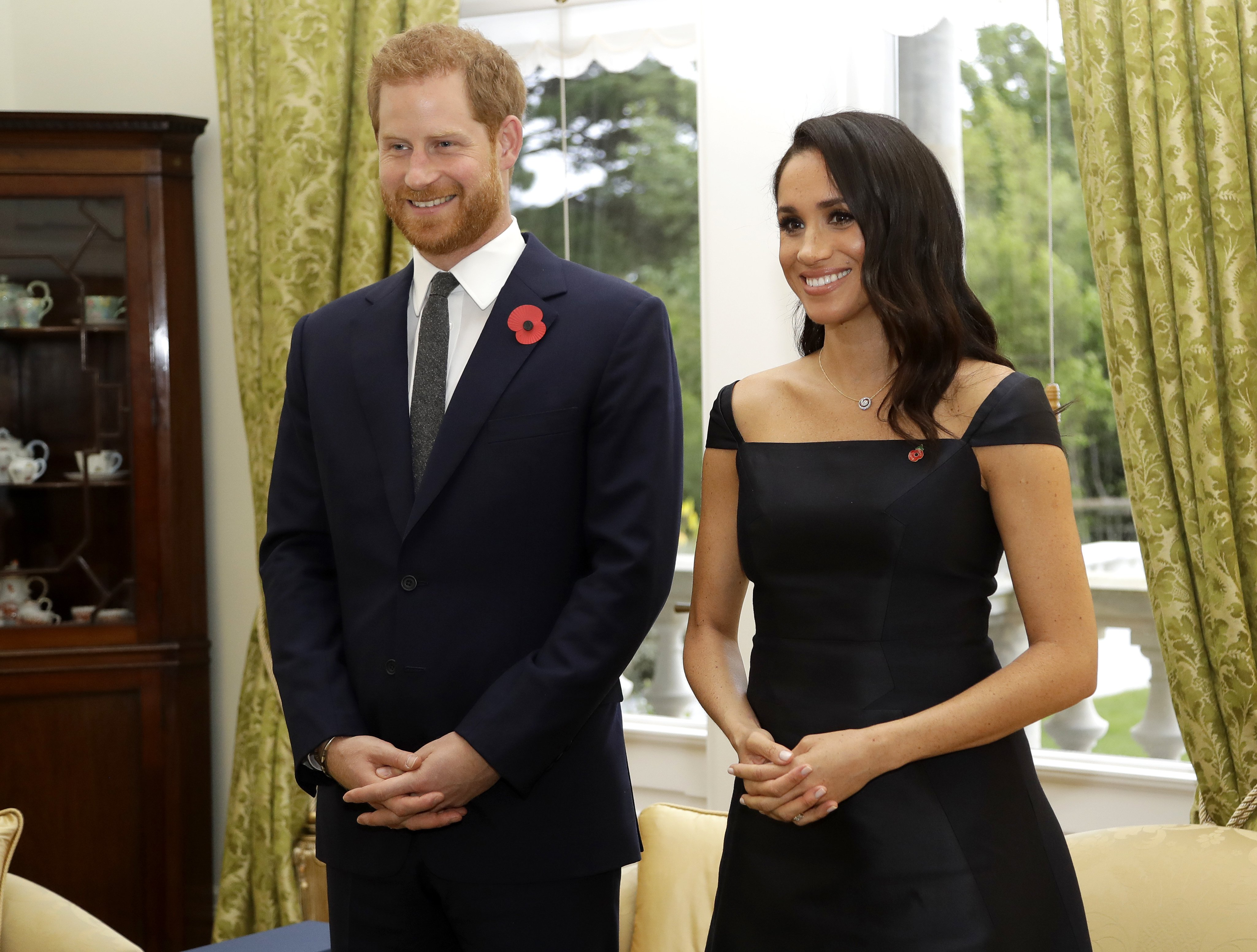The Duke and Duchess of Sussex preparing to meet the New Zealand Prime Minister in Wellington, October, 2018 | Photo: Getty Images