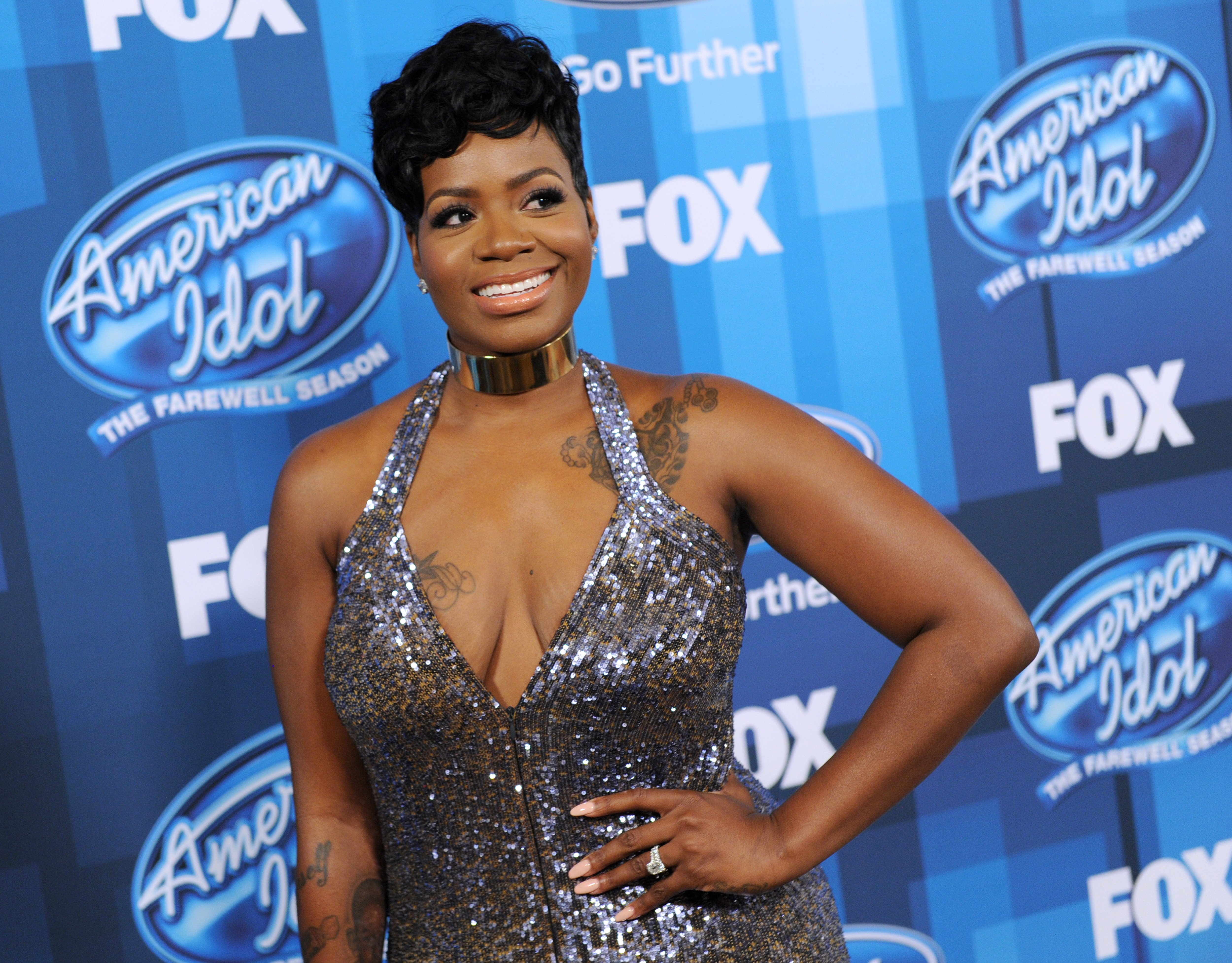 """Fantasia Barrino at the finale of the farewell season of  """"American Idol"""" at Dolby Theatre on April 7, 2016 in Hollywood, California.