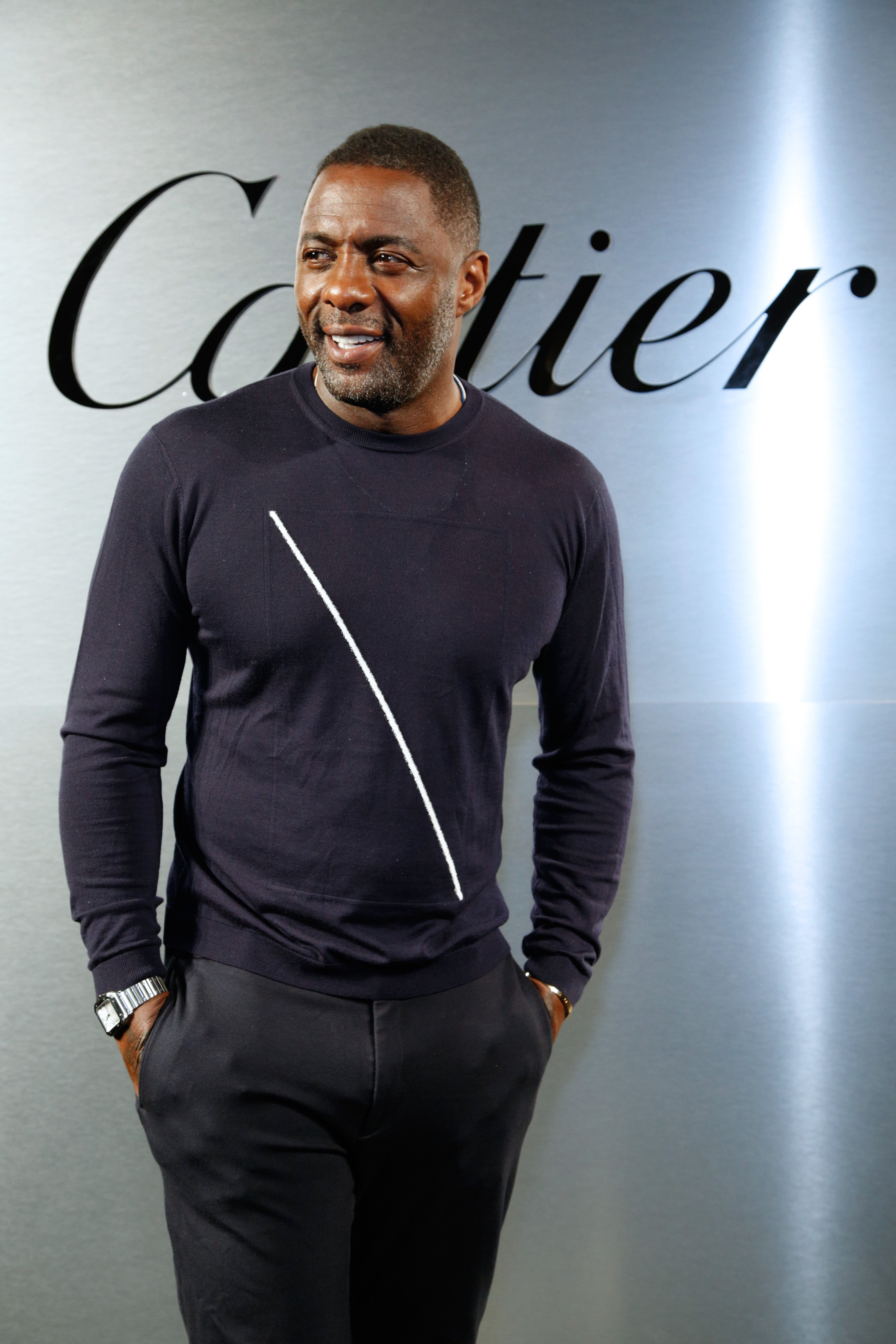 Idris Elba at Cartier celebration of the launch of Santos de Cartier Watch on Apr. 5, 2018 in San Francisco.  Photo: Getty Images