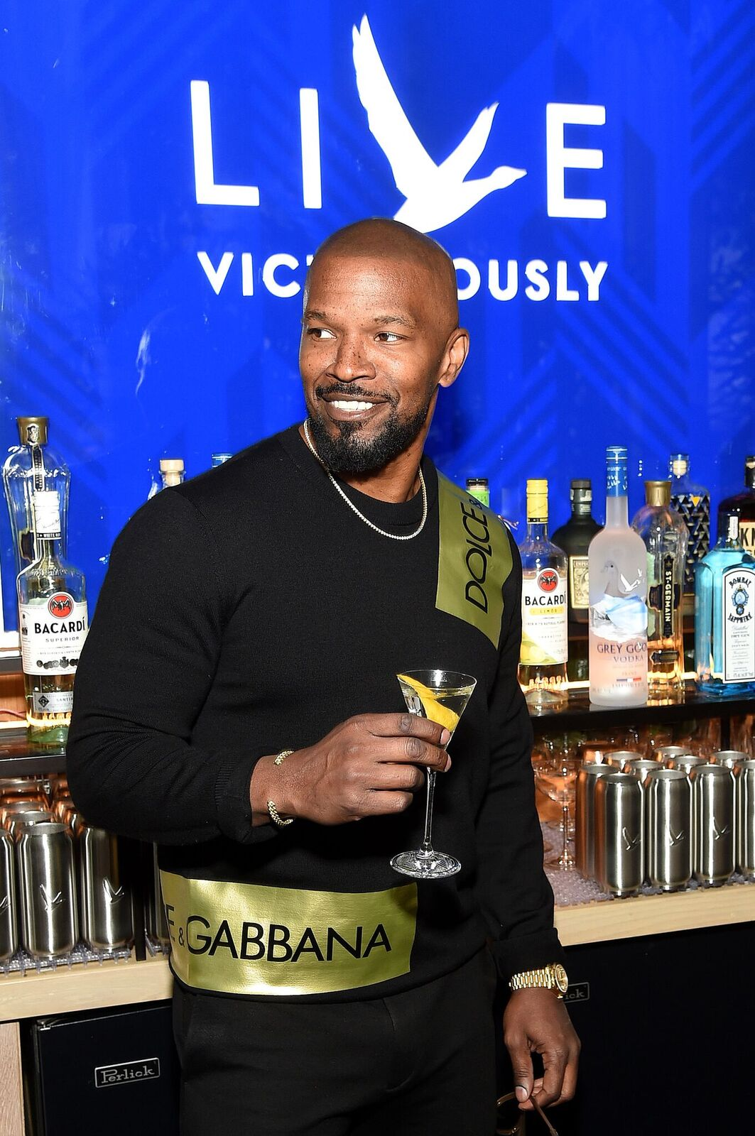 Jamie Foxx at the Grey Goose Takes Over New York Launch. | Source: Getty Images