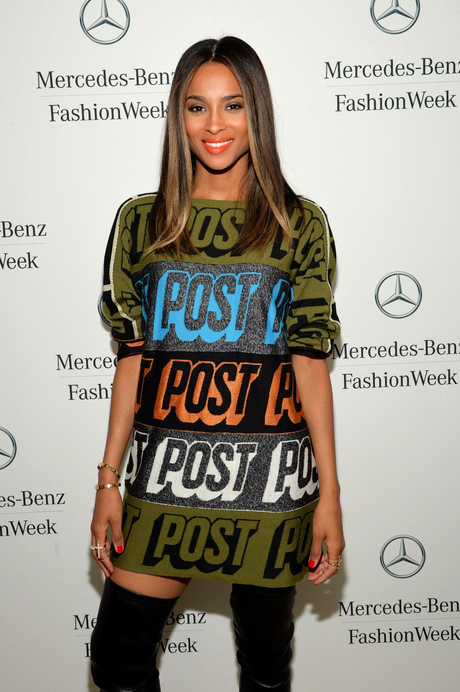 Ciara at the Mercedes-Benz Star Lounge during Mercedes-Benz Fashion Week Spring on September 9, 2013, in New York City | Photo: Mike Coppola/Getty Images