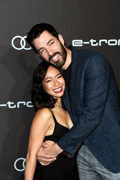 Linda Phan and Drew Scott at Sunset Tower on September 19, 2019 in Los Angeles, California. | Photo: Getty Images