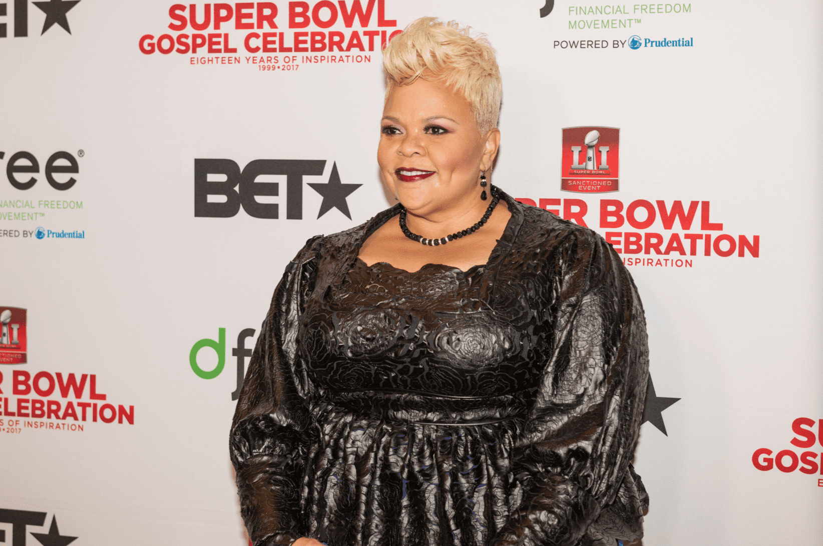 Tamela Mann attends BET's Super Bowl Gospel Celebration at Lakewood Church on February 3, 2017.   Source: Getty Images