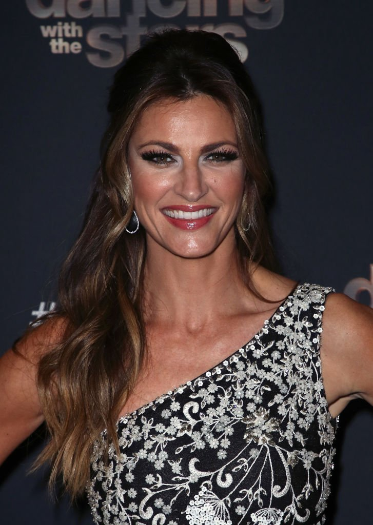 "Erin Andrews poses at ""Dancing with the Stars"" Season 28 Finale at CBS Television City 