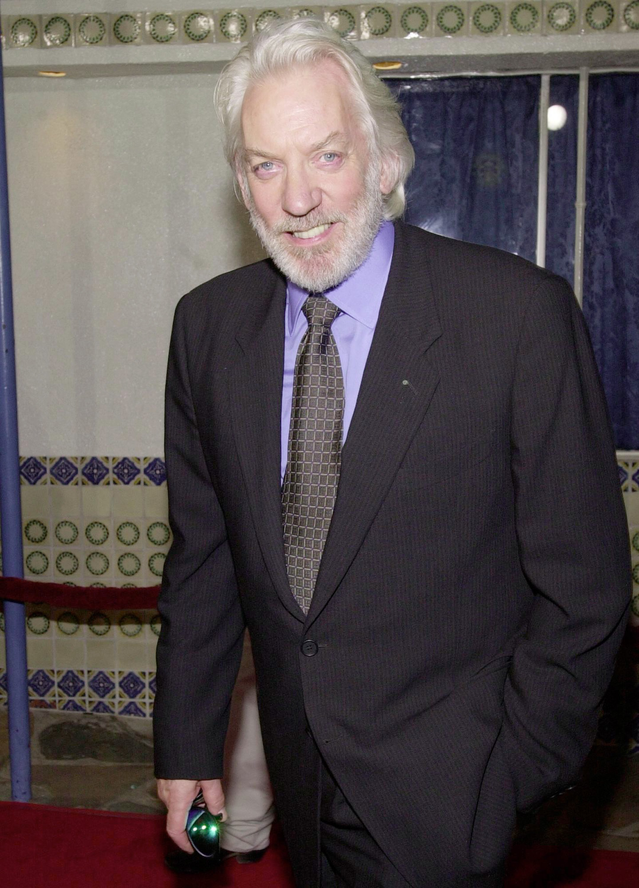"""Donald Sutherland at the premiere of """"Space Cowboys"""" on Aug. 1, 2000 in Westwood, California 